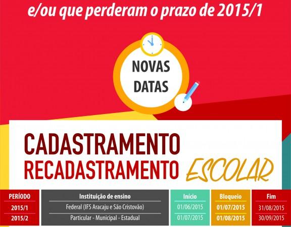 CAD RECADASTRAMENTO INTERNET