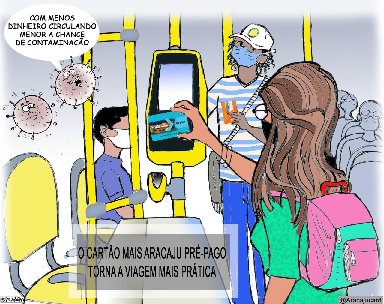 Charge opte pelo cartão Mais Aracaju